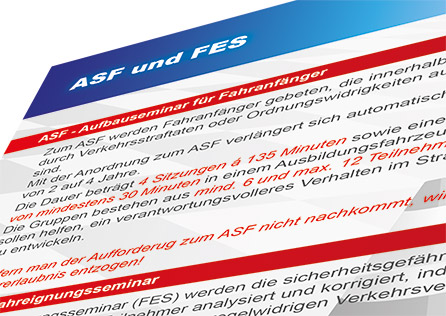 ASF Aufbauseminare für Fahranfänger