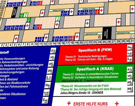 FAhrschule Erkner Theorieplan PKW und Motorrad